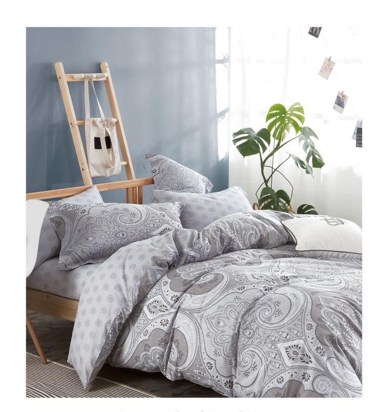 Купить Комплекты постельного белья Famille, Постельное белье Pelliccia (2 сп. евро), Китай, Серый, Хлопковый сатин