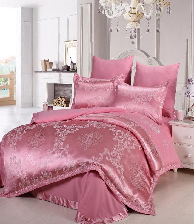 Купить Комплекты постельного белья DO'n'CO, Постельное белье Dot (2 сп. евро), Турция, Розовый, Хлопковый сатин