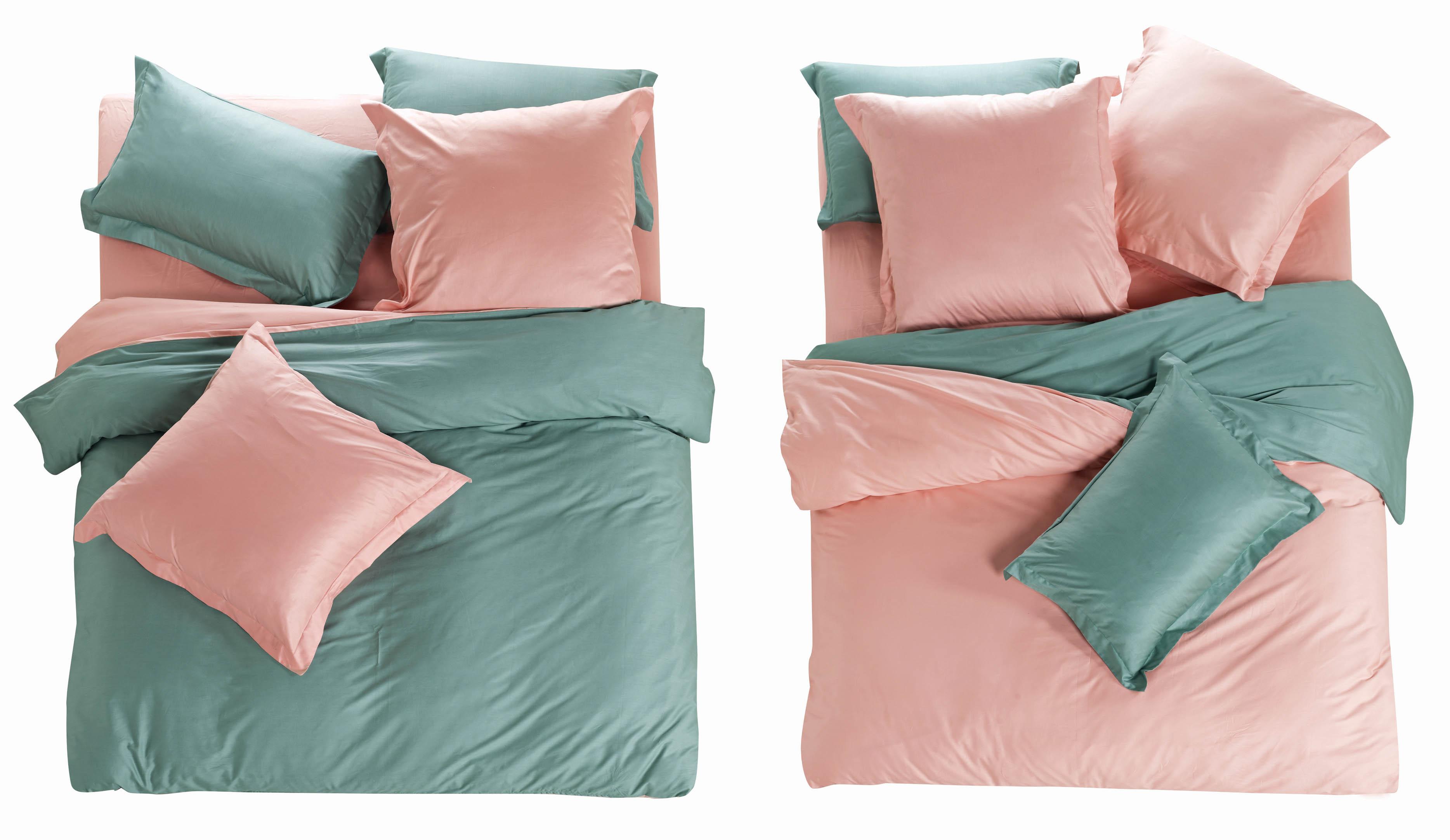 Комплекты постельного белья СайлиД, Постельное белье Natalee L- 3 (2 сп. евро), Китай, Розовый, Серый, Хлопковый сатин  - Купить
