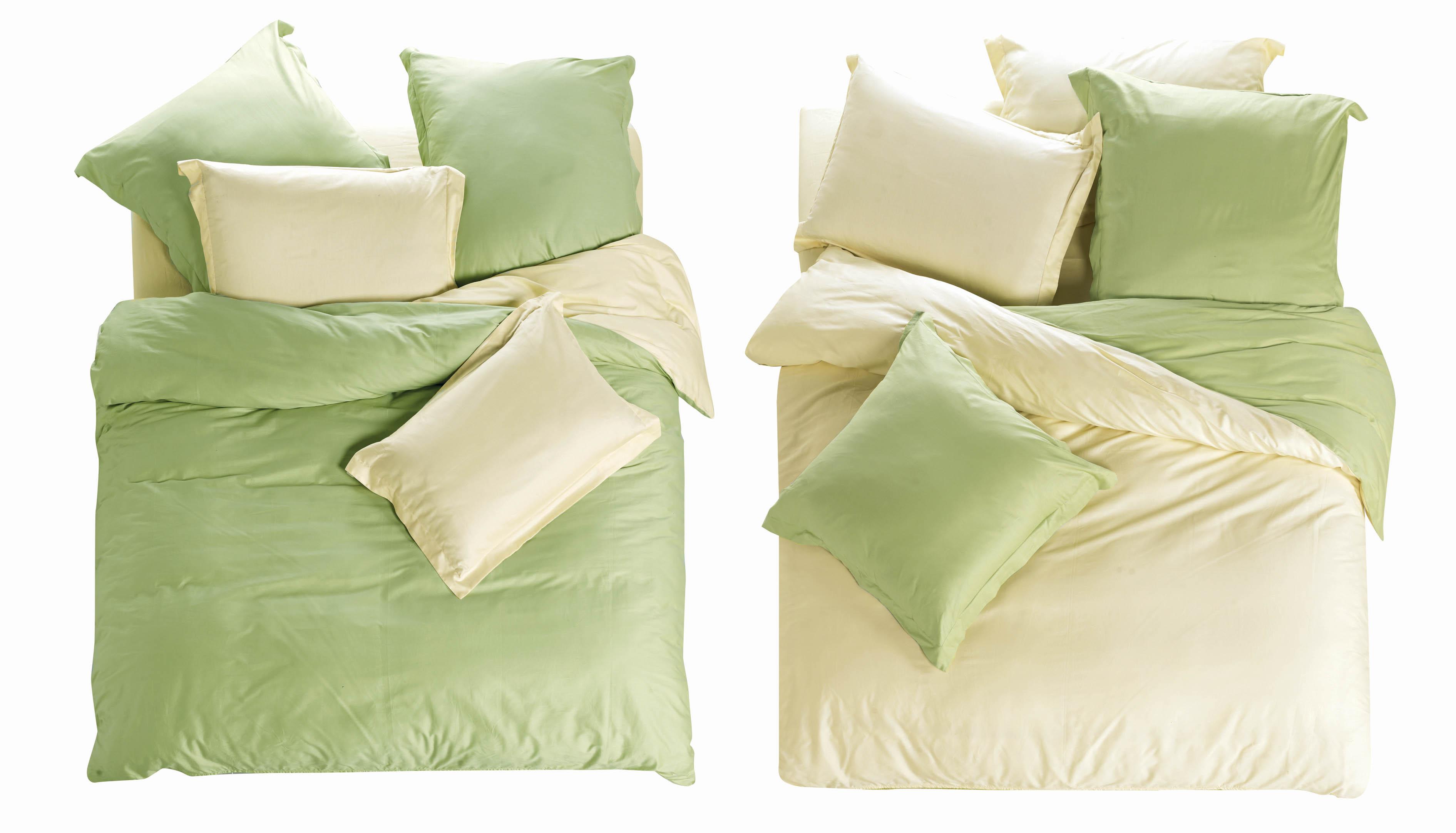 Комплекты постельного белья СайлиД, Постельное белье Makenzie L- 4 (2 сп. евро), Китай, Белый, Зеленый, Хлопковый сатин  - Купить