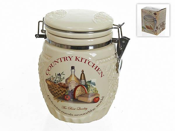 Хранение продуктов Polystar Банка для сыпучих Country Kitchen (12х16 см) polystar банка для специй двойная орнамент 8х12х15 см
