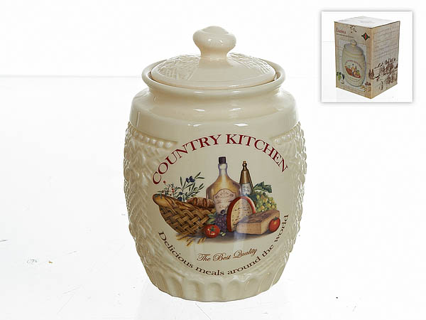 Хранение продуктов Polystar Банка для сыпучих Country Kitchen (13х18 см) polystar банка для специй двойная орнамент 8х12х15 см