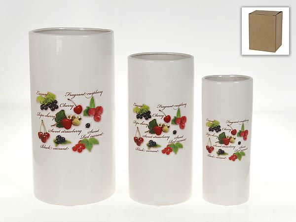 Вазы Polystar Ваза Садовая Ягода (Набор) polystar тарелка этажерка садовая ягода 18х24 см