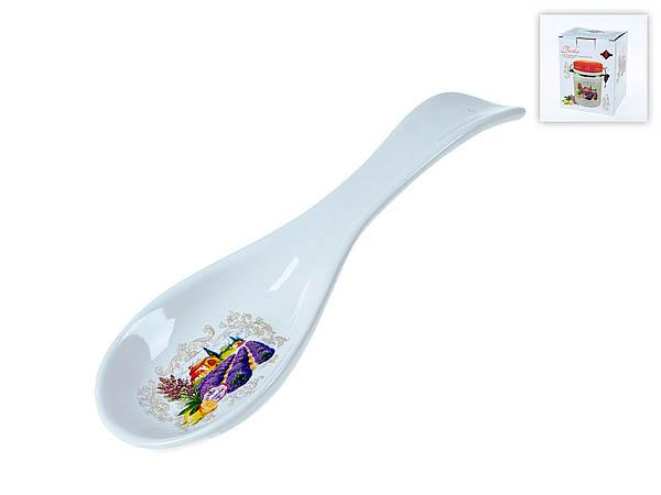Купить Хранение продуктов Polystar, Подставка под ложку Прованс (3х9х30 см), Китай, Сиреневый, Керамика