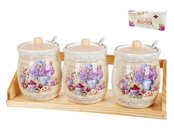 Хранение продуктов Polystar Банки для сыпучих Sweet Home (8х12 см - 3 шт) polystar банки для сыпучих прованс 10х16 см 3 шт