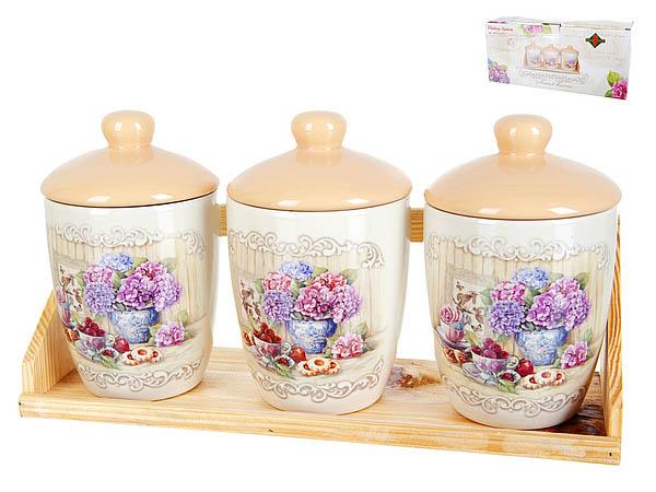 Хранение продуктов Polystar Банки для сыпучих Sweet Home (10х16 см - 3 шт) polystar банки для сыпучих прованс 10х16 см 3 шт