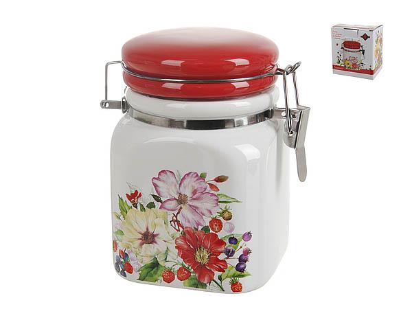 Купить Хранение продуктов Polystar, Банка для сыпучих Summer (8х11 см), Китай, Красный, Керамика