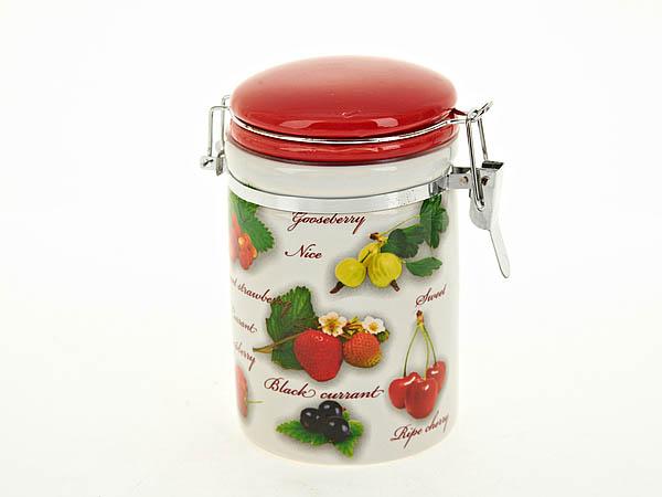Купить Хранение продуктов Polystar, Банка для сыпучих Садовая Ягода (7х13 см), Китай, Зеленый, Красный, Керамика