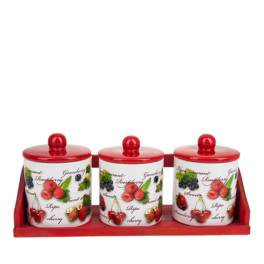 Хранение продуктов Polystar Банки для сыпучих Садовая Ягода (11х13х32 см) polystar тарелка этажерка садовая ягода 18х24 см