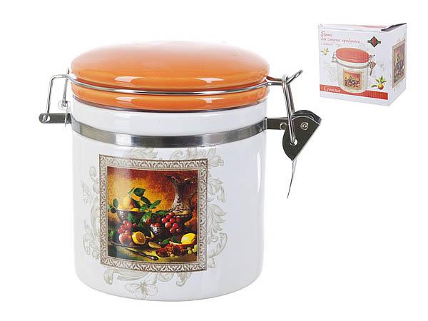 Купить Хранение продуктов Polystar, Банка для сыпучих Севилья (9х12 см), Китай, Оранжевый, Керамика