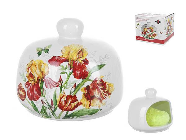 Купить Хранение продуктов Polystar, Подставка для кухонных принадлежностей с губкой Касатик (10х12 см), Китай, Желтый, Красный, Керамика