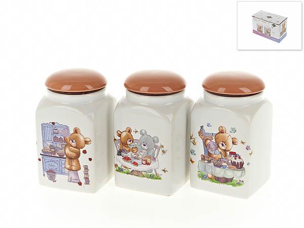 Хранение продуктов Polystar Банки для сыпучих Berny (9х16 см - 3 шт) polystar банки для сыпучих прованс 10х16 см 3 шт