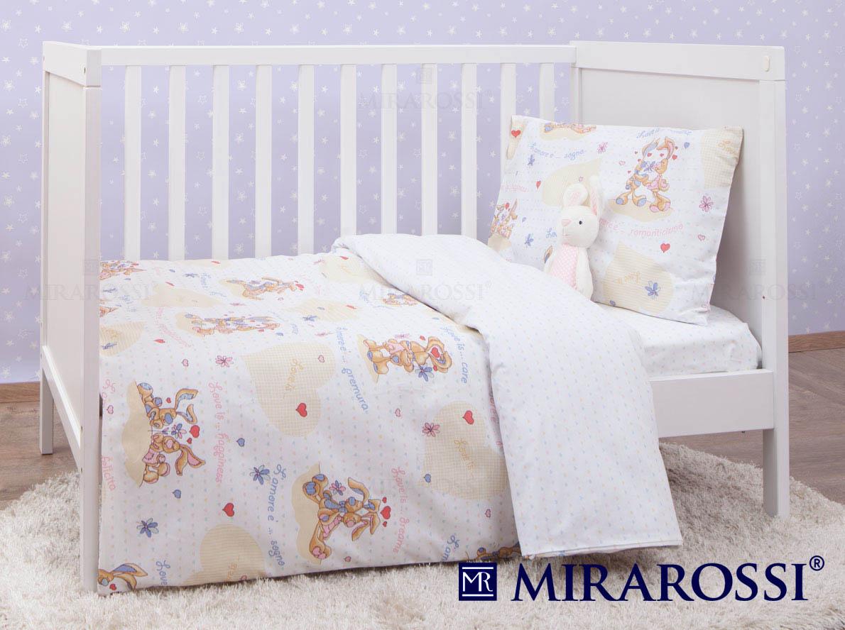 Купить Детское постельное белье MIRAROSSI, Постельное белье L'amore e' Цвет: Белый (115х147 см), Россия, Ранфорс