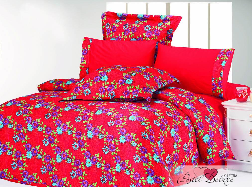 Купить Комплекты постельного белья Le Vele, Постельное белье Pietra (2 сп. евро), Турция, Красный, Атласный шелк