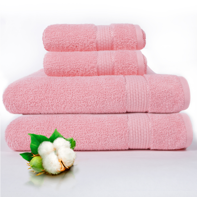 Набор из 4 полотенец Marakesh Цвет: Розовый (50х90 см - 2 шт, 70х140 см - 2 шт)