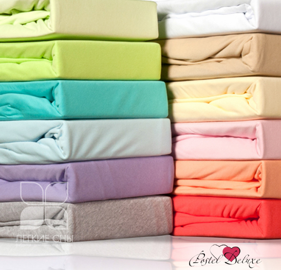 Простыни Легкие сны Простыня на резинке Color Way Цвет: Персик (200х200 см) простыня радуга персик р 200х200