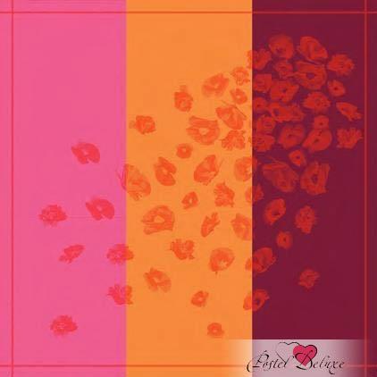 Скатерти и салфетки Lencera, Скатерть Chloe Garange (160х250 см), Испания, Бордовый, Оранжевый, Розовый, Жаккард  - Купить