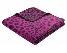 Пледы и покрывала Bocasa Плед Leopard Цвет: Темно-розовый (150х200 см) плед bella casa плед коралл цвет розовый 150х200 см