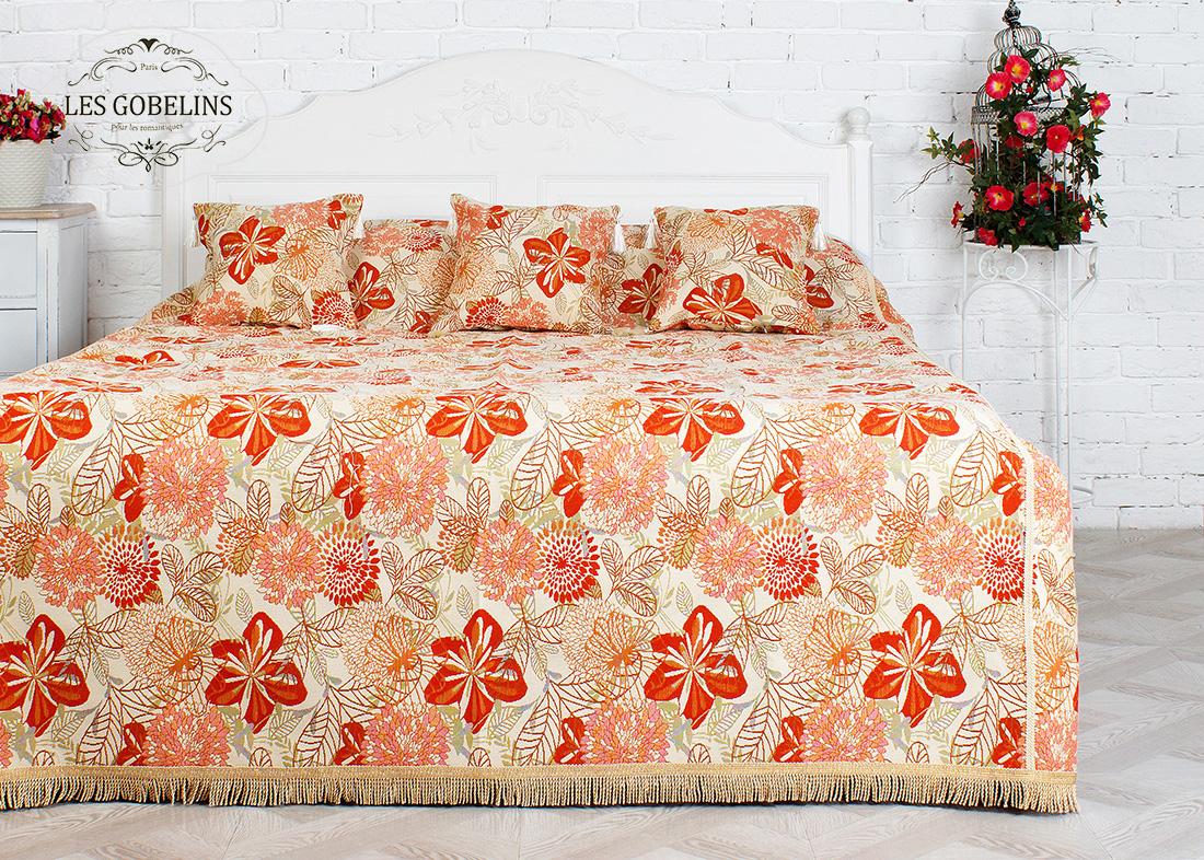 где купить Пледы и покрывала Les Gobelins Покрывало на кровать Fleurs vector (240х260 см) по лучшей цене