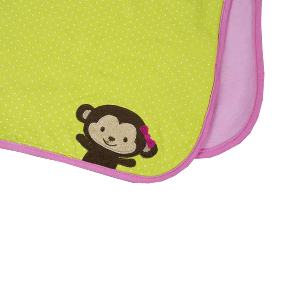 Купить Покрывала, подушки, одеяла для малышей Непоседа, Детский плед Летний Цвет: Розово-Зеленый (80х110 см), Россия, Зеленый, Розовый, Хлопковый трикотаж