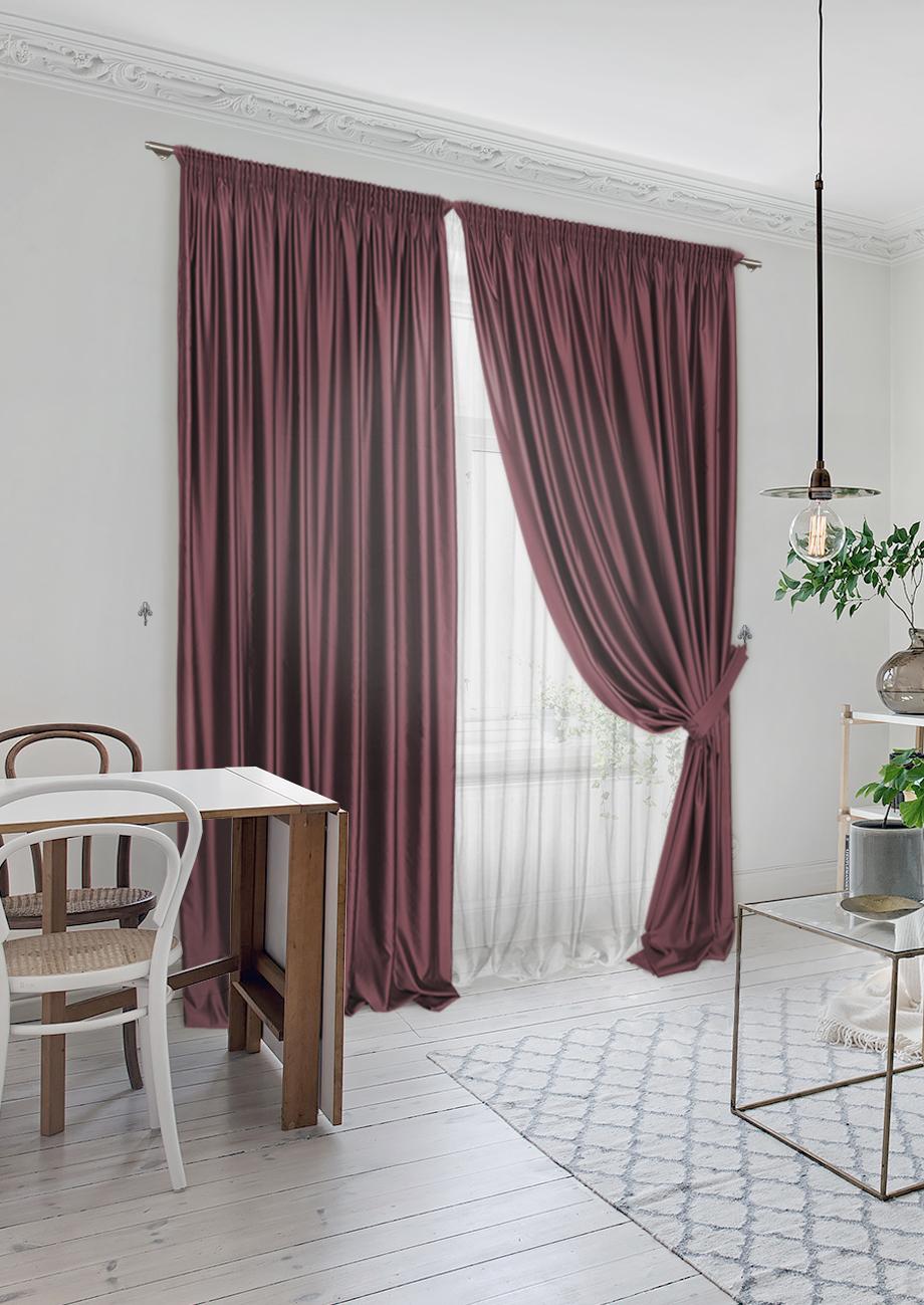 Классические шторы Sophy Цвет: Бордовый фото