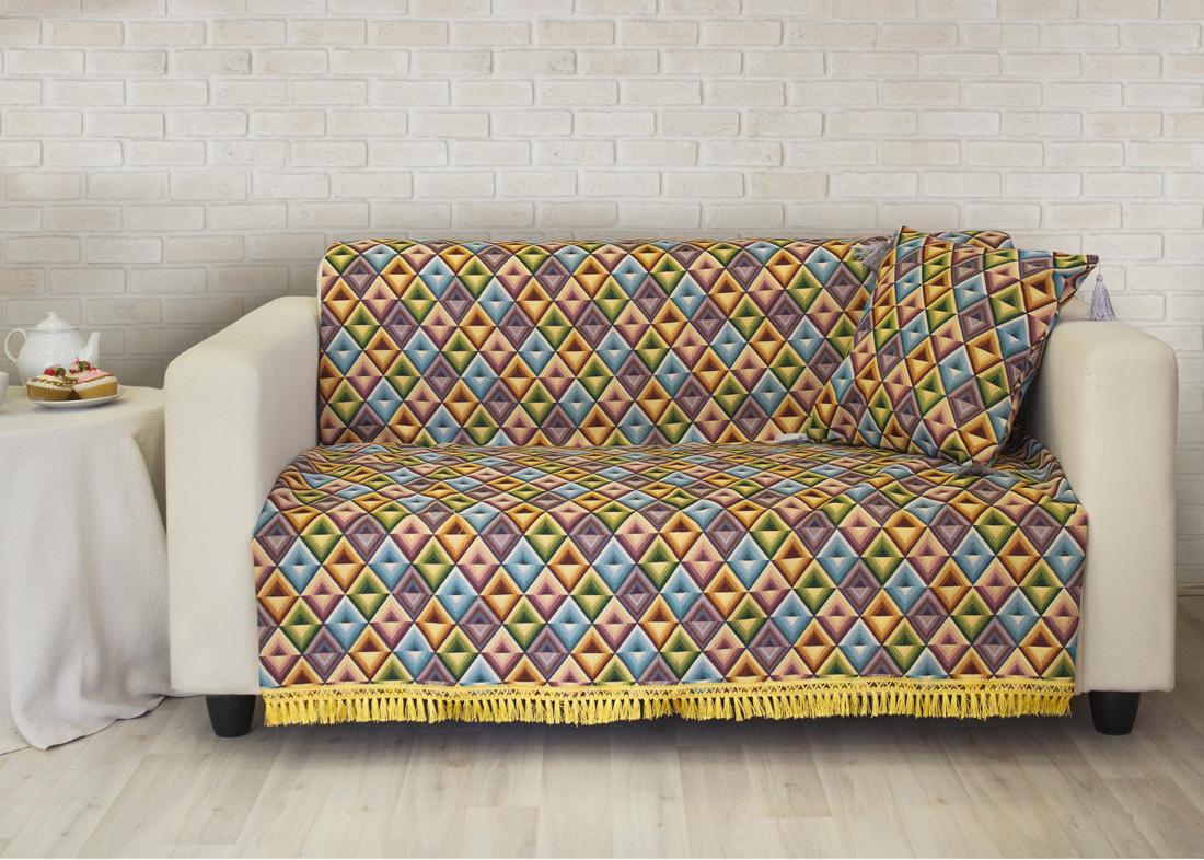 где купить Пледы и покрывала Les Gobelins Накидка на диван Kaleidoscope (150х220 см) по лучшей цене