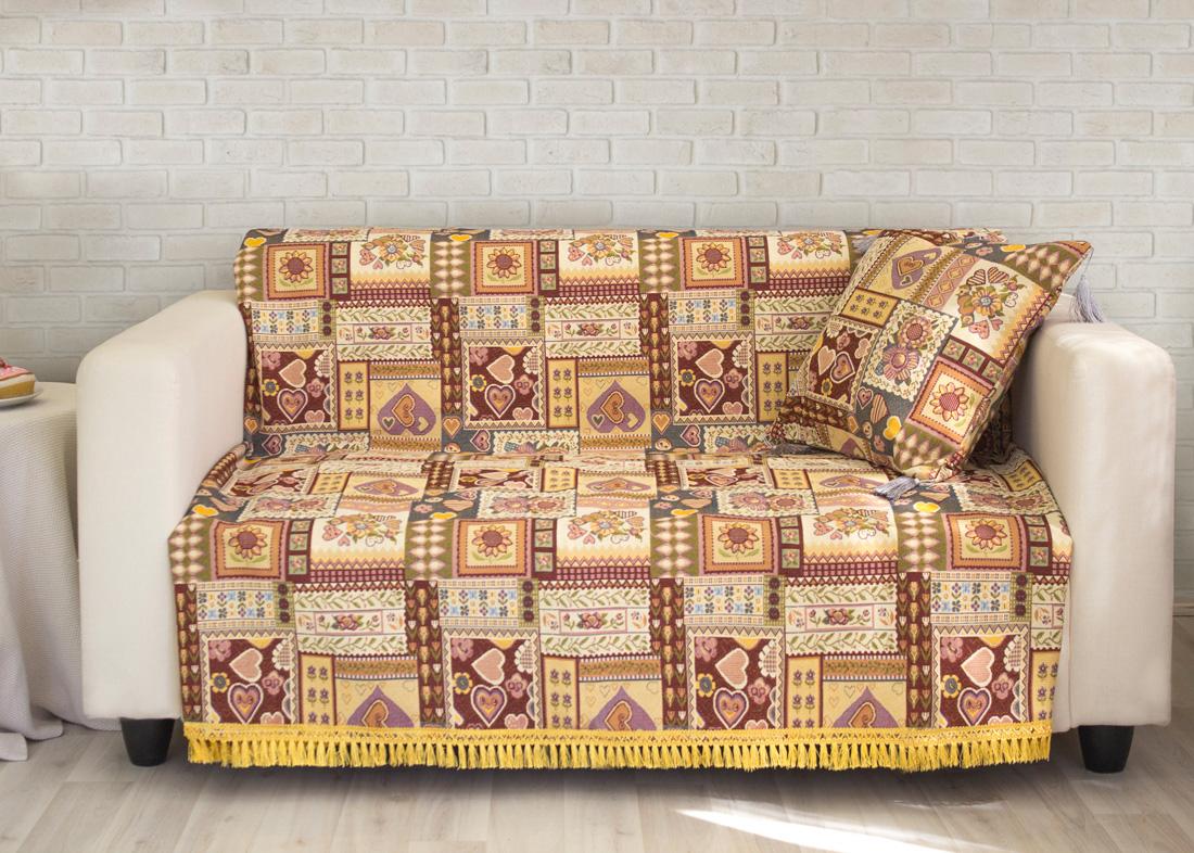 где купить Пледы и покрывала Les Gobelins Накидка на диван Coeurs Espagnol (160х210 см) по лучшей цене