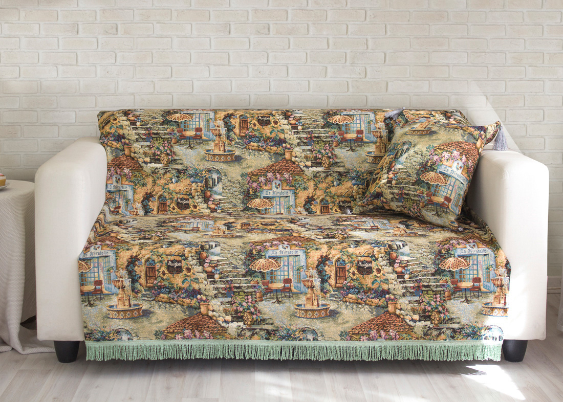 где купить Пледы и покрывала Les Gobelins Накидка на диван Jardin D'Eden (150х200 см) по лучшей цене