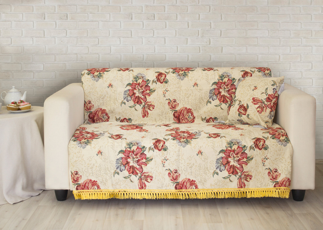 где купить Пледы и покрывала Les Gobelins Накидка на диван Cleopatra (160х220 см) по лучшей цене