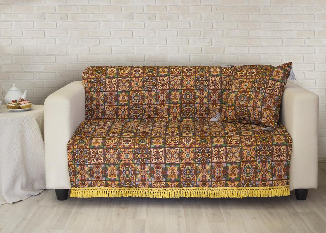 где купить Пледы и покрывала Les Gobelins Накидка на диван Mosaique De Fleurs (160х230 см) по лучшей цене