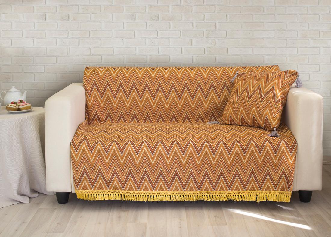 Пледы и покрывала Les Gobelins Накидка на диван Zigzag (150х200 см) покрывало les gobelins накидка на кресло zigzag 50х160 см