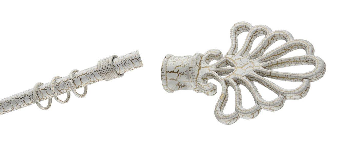 Карнизы и аксессуары для штор ARCODORO Карниз Ковка Лотос Цвет: Белый Мрамор (180 см)