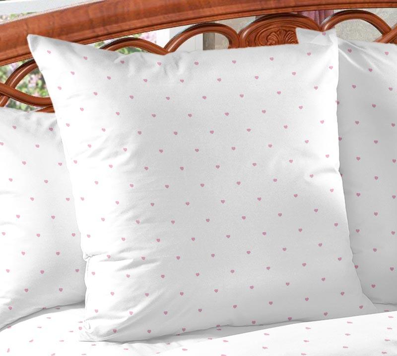 Наволочка Сладкий поцелуй цвет: белый, персиковый (50х70 (2 шт))