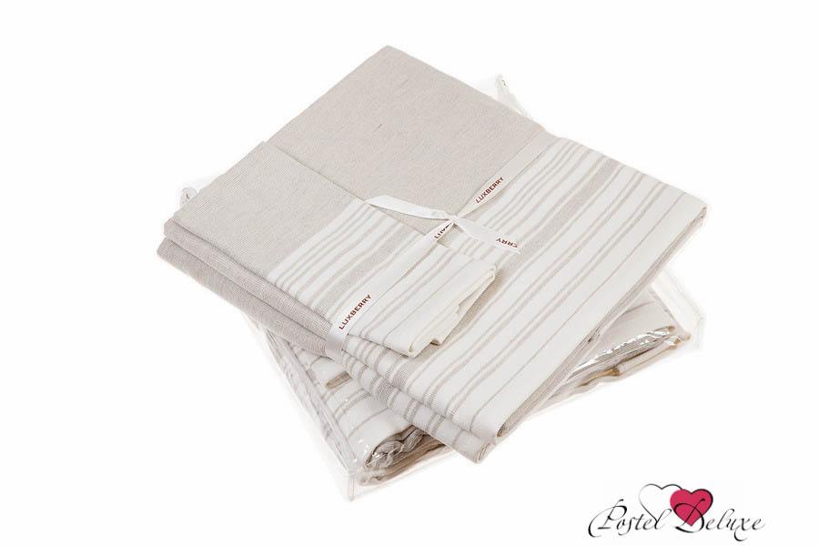 Купить Полотенца Luxberry, Полотенце Spa 3 Цвет: Белый-Льняной (Набор), Португалия, Махра, Лен