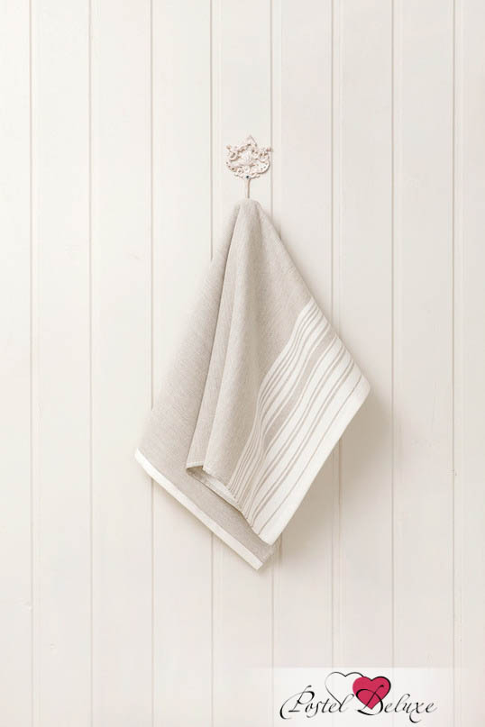 Купить Полотенца Luxberry, Полотенце Spa 3 Цвет: Белый-Льняной (50х100 см), Португалия, Махра, Лен
