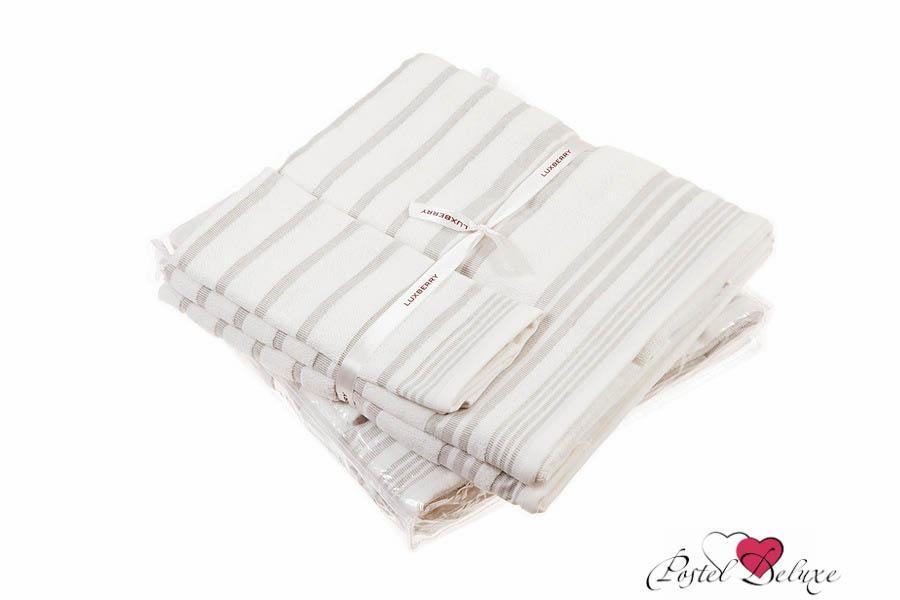 Купить Полотенца Luxberry, Полотенце Spa 4 Цвет: Белый-Льняной (Набор), Португалия, Махра, Лен