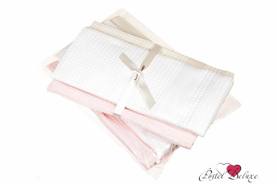 Купить Полотенца Luxberry, Кухонное полотенце Ice Cream Цвет: Розовый-Белый-Бежевый (40х60 см - 3 шт), Португалия, Бежевый, Белый, Розовый, Вафля