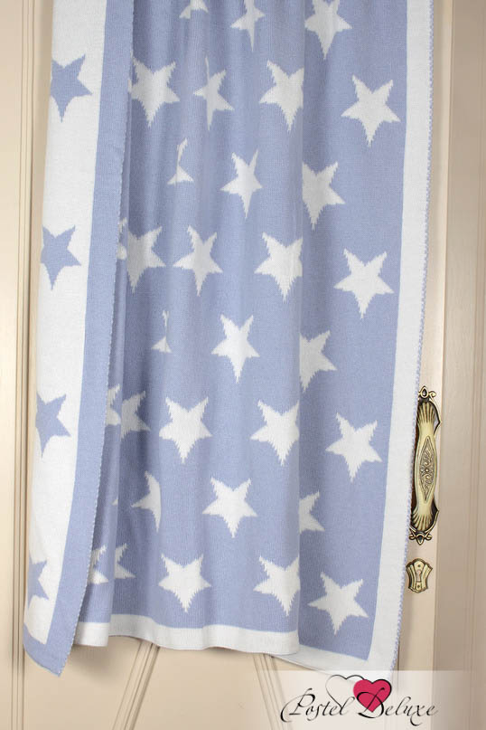 Купить Покрывала, подушки, одеяла для малышей Luxberry, Детский плед Imperio 254 Цвет: Лавандовый-Белый (100х150 см), Португалия, Голубой, Вязаный хлопок
