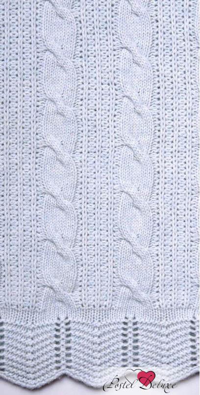 Купить Покрывала, подушки, одеяла для малышей Luxberry, Детский плед Imperio 93 Цвет: Голубой (100х150 см), Португалия, Вязаный хлопок
