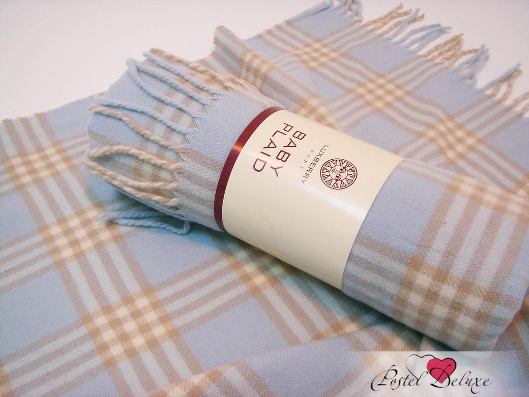 Купить Покрывала, подушки, одеяла для малышей Luxberry, Детский плед Lux 1 Цвет: Голубой-Экрю-Бежевый (75х100 см), Португалия, Бежевый, Голубой, Твил из овечьей шерсти