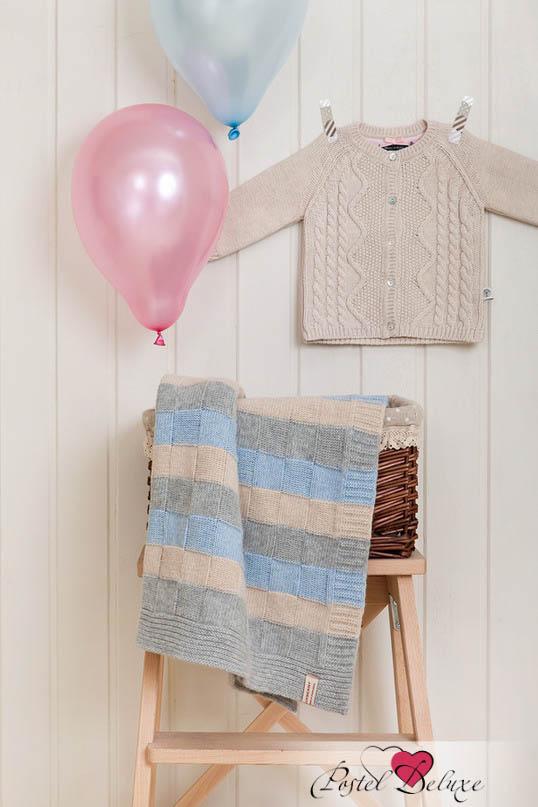 Покрывала, подушки, одеяла для малышей Luxberry Детский плед Lux 218 Цвет: Голубой-Серый-Бежевый (75х100 см) детский комплект luxberry sweet life простыня без резинки