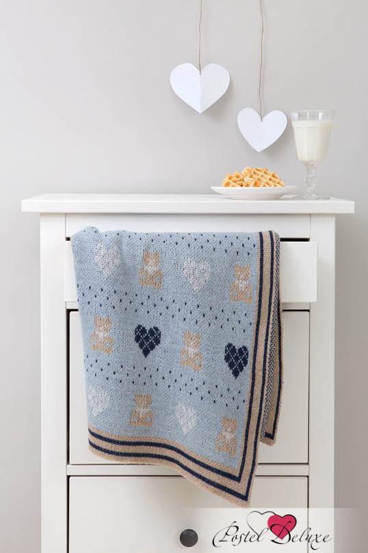 Купить Покрывала, подушки, одеяла для малышей Luxberry, Детский плед Lux Bear Цвет: Голубой-Синий-Бежевый (100х150 см), Португалия, Бежевый, Голубой, Синий, Вязаная овечья шерсть