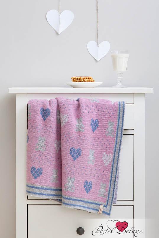 Купить Покрывала, подушки, одеяла для малышей Luxberry, Детский плед Lux Bear Цвет: Розовый-Голубой-Серый (100х150 см), Португалия, Голубой, Розовый, Серый, Вязаная овечья шерсть