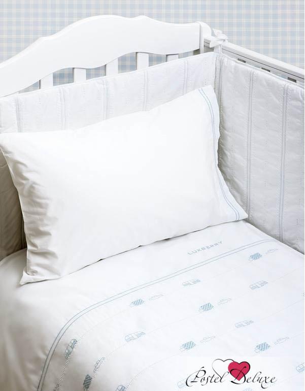 Купить Детское постельное белье Luxberry, Постельное белье Машинки Цвет: Белый-Голубой (100х140 см), Португалия, Белый, Голубой, Перкаль