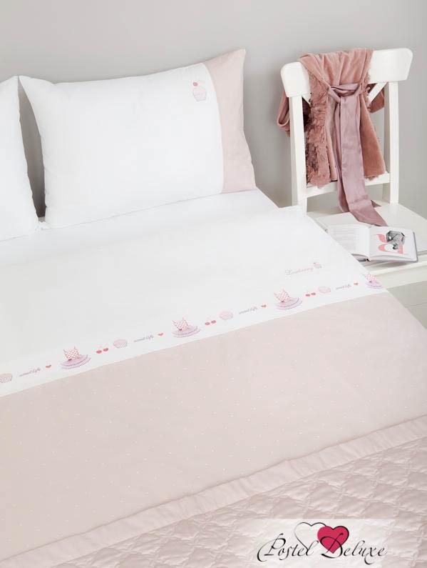 Комплекты постельного белья Luxberry Постельное белье Sweet Life Цвет: Белый, Жемчужно-Розовый (1,5 спал.) luxberry комплект постельного белья sweet life