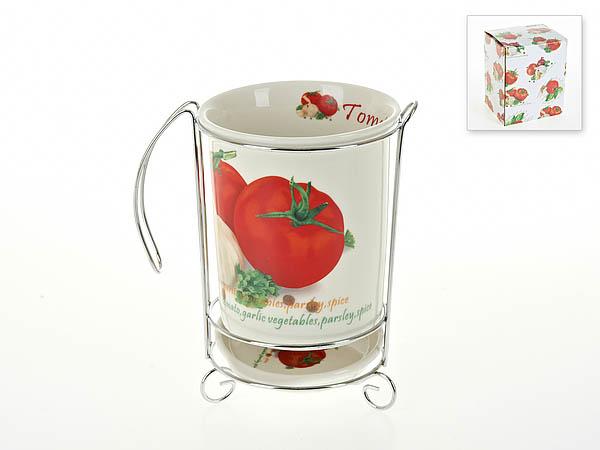 Купить Хранение продуктов Best Home Porcelain, Подставка для кухонных принадлежностей Кулинарный Мир (10х17 см), Китай, Бежевый, Красный, Фарфор