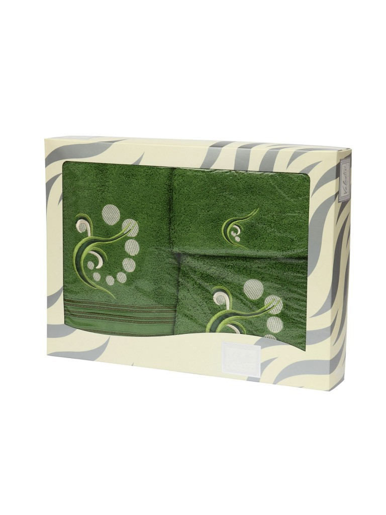 Полотенце Colburn цвет: зеленый (30х50 см,50х100 см,100х150 см)