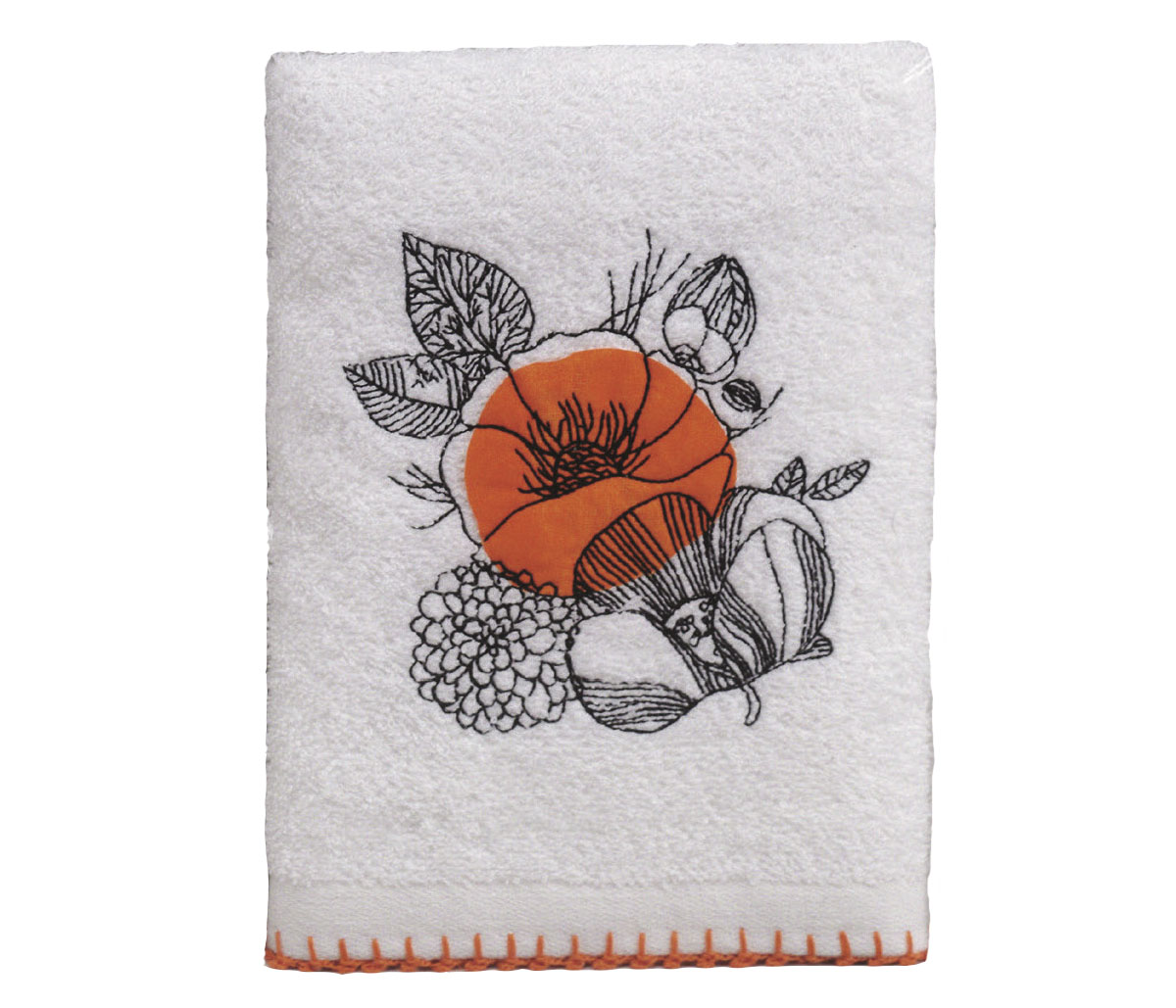 Кухонное полотенце Rayne Цвет: Белый, Оранжевый (50х70 см)
