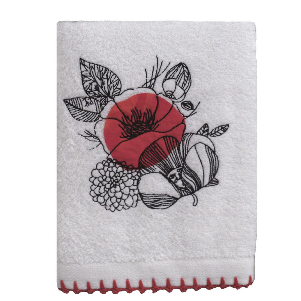 Кухонное полотенце Veronica Цвет: Белый, Красный (50х70 см)