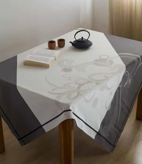 Купить Скатерти и салфетки Lencera, Скатерть Arco Цвет: Серый (160х260 см), Испания, Жаккард